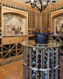 Wine Room with wine table